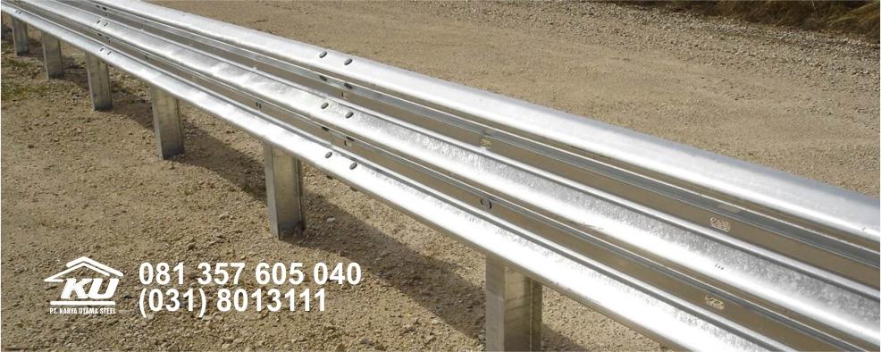 Jual Guardrail Hotdip Galvanis