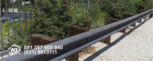 Rel Besi Guardrail Pengaman Jalan Galvanis