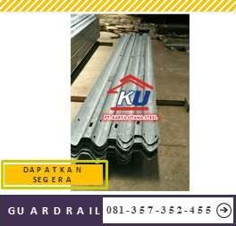 Jual Guardrail Galvanis Hotdip Murah Panjang 4 Meter di Sidoarjo